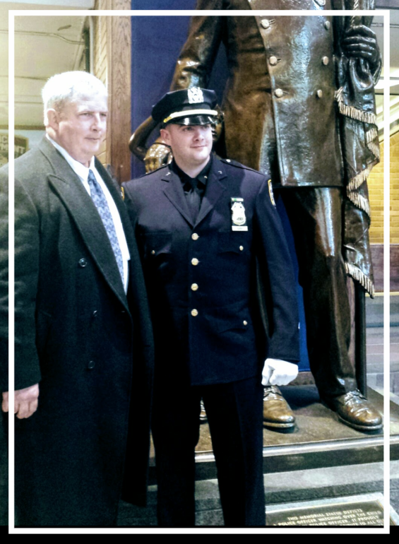 Sgt. Hugh Barry with his father, Sgt. Barry