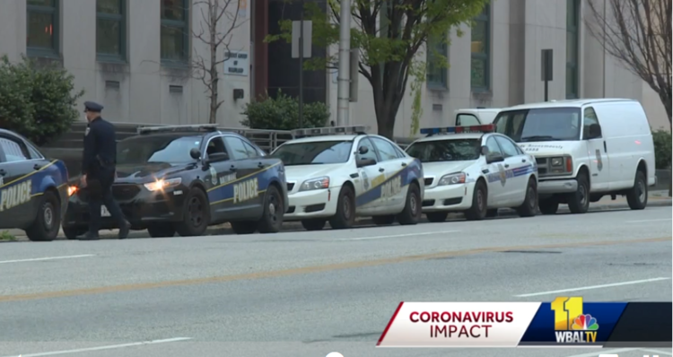 Baltimore confirms 10 coronavirus cases; 94 officers return to work   Tre Ward  |  WBALTV  |  Monday, April 6, 2020