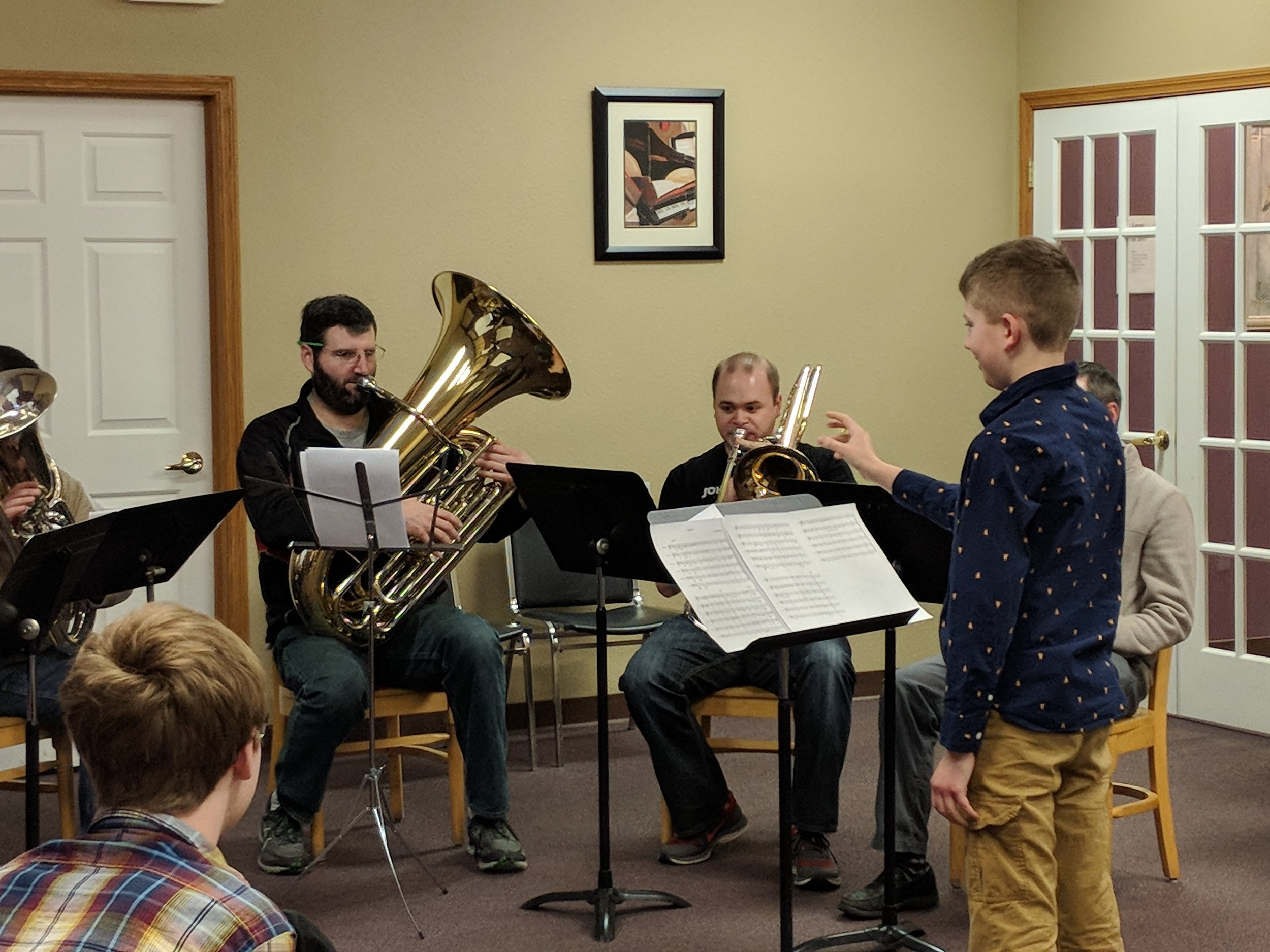 """""""Our kids are naturally curious and creative. The challenge is to help them maintain this curiosity and cultivate their creativity. Resonance is an amazing program that offers students the opportunity to develop and enhance their creative thinking through music composition. My son, Miles, absolutely loved translating his ideas into musical ideas that could be shared with others. He grew so much in just one year and continues to compose and share his ideas with others. I'm very grateful for the excellent teaching taking place at Prairie Music &Arts.""""  Chris Gleason Music Educator, Patrick Marsh Middle School Bands 2017 National Teacher of the Year Finalist 2017 Wisconsin MS Teacher of the Year CMP Committee Band Festival at the Kalahari Manager"""