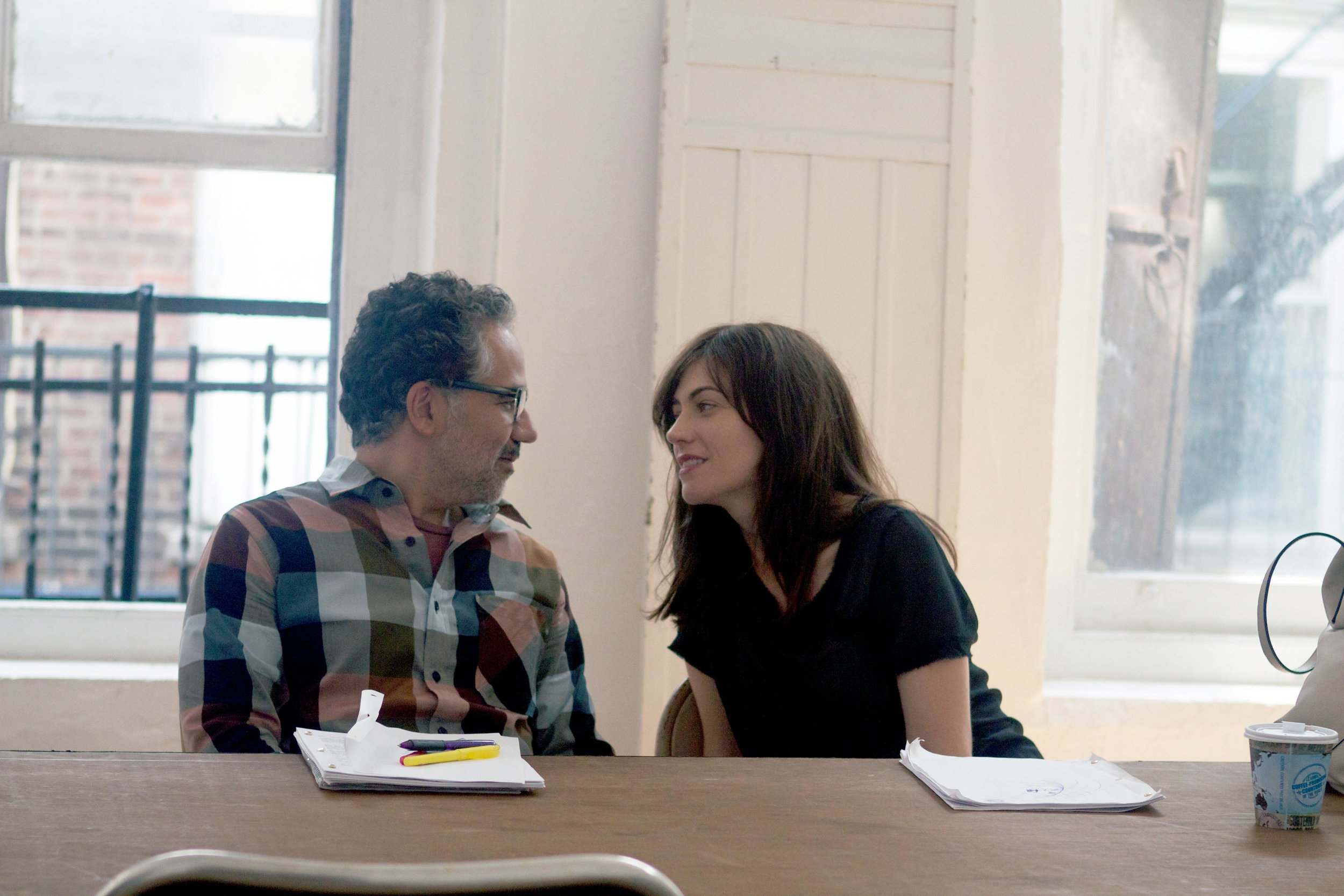 John Ortiz and Maggie Siff in A Woman, A Part (Photo: Sahid Limon)