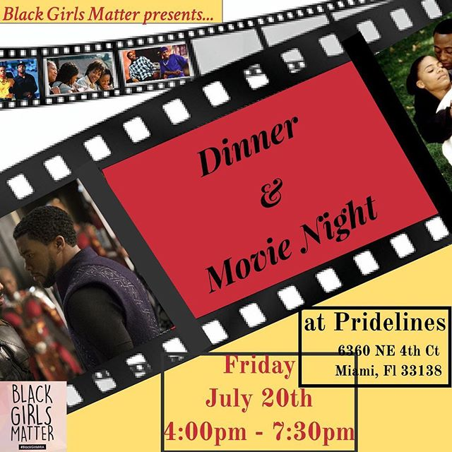 Come out for a fun filled night! Dinner and a movie!! July 20th! You won't wanna miss this!