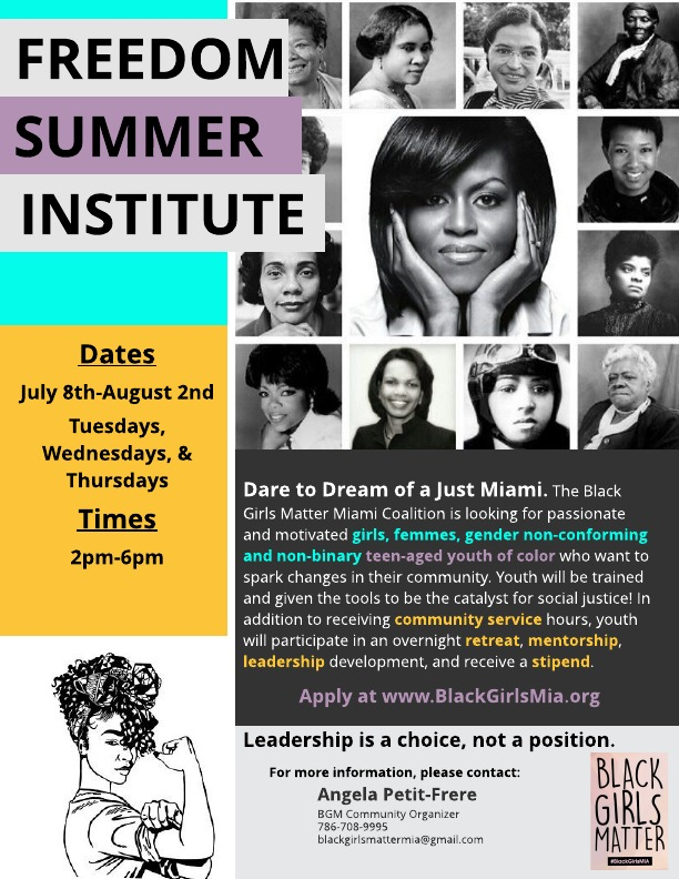 Interested in making a difference in your local community? - Want to develop your skills as a leader in your community and a change agent?Applications are now being accepted for the inaugural cohort of the Freedom Summer Institute.Space is limited!