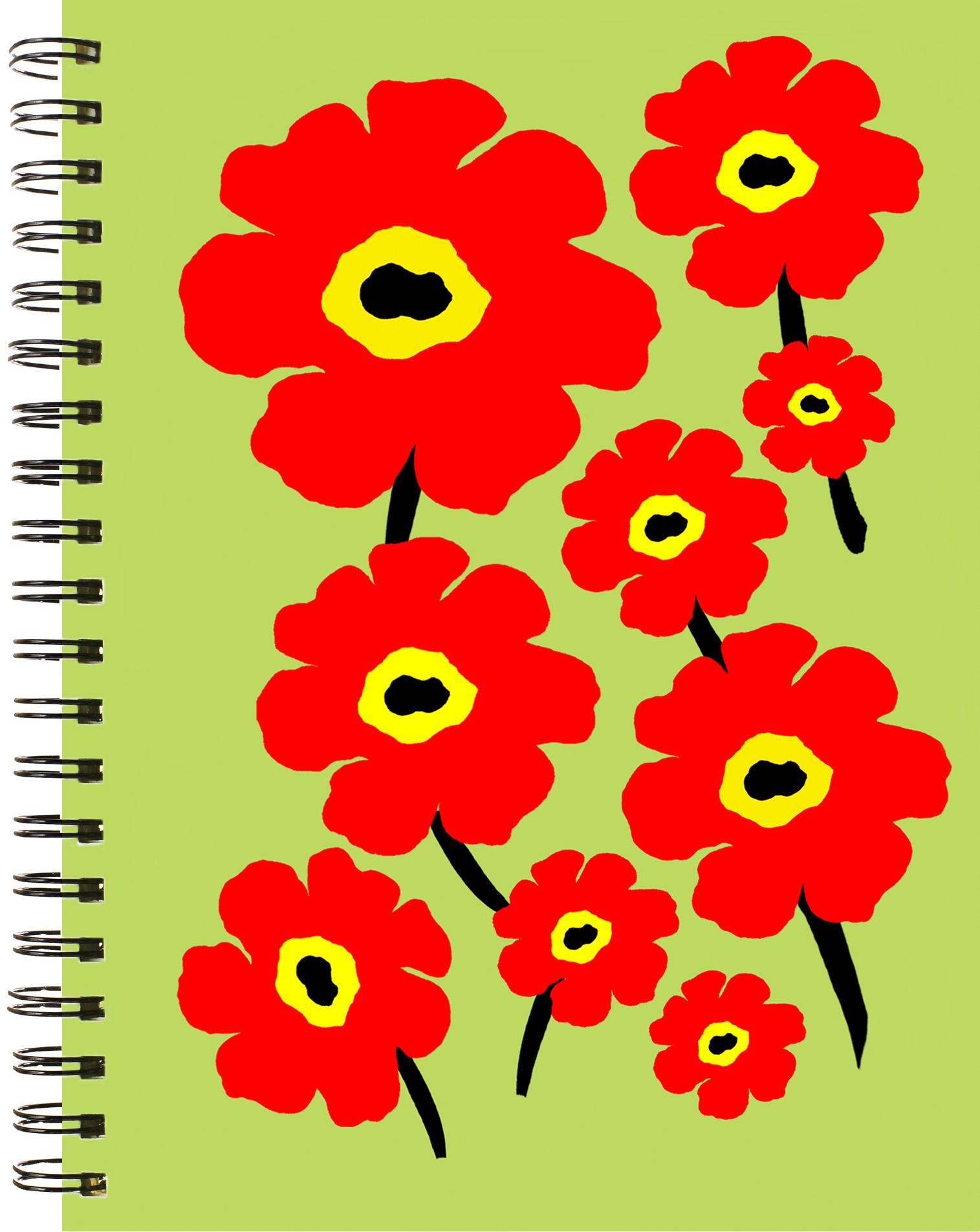 LittleNoteCard_FlowerPower_OrangeLime_Journal