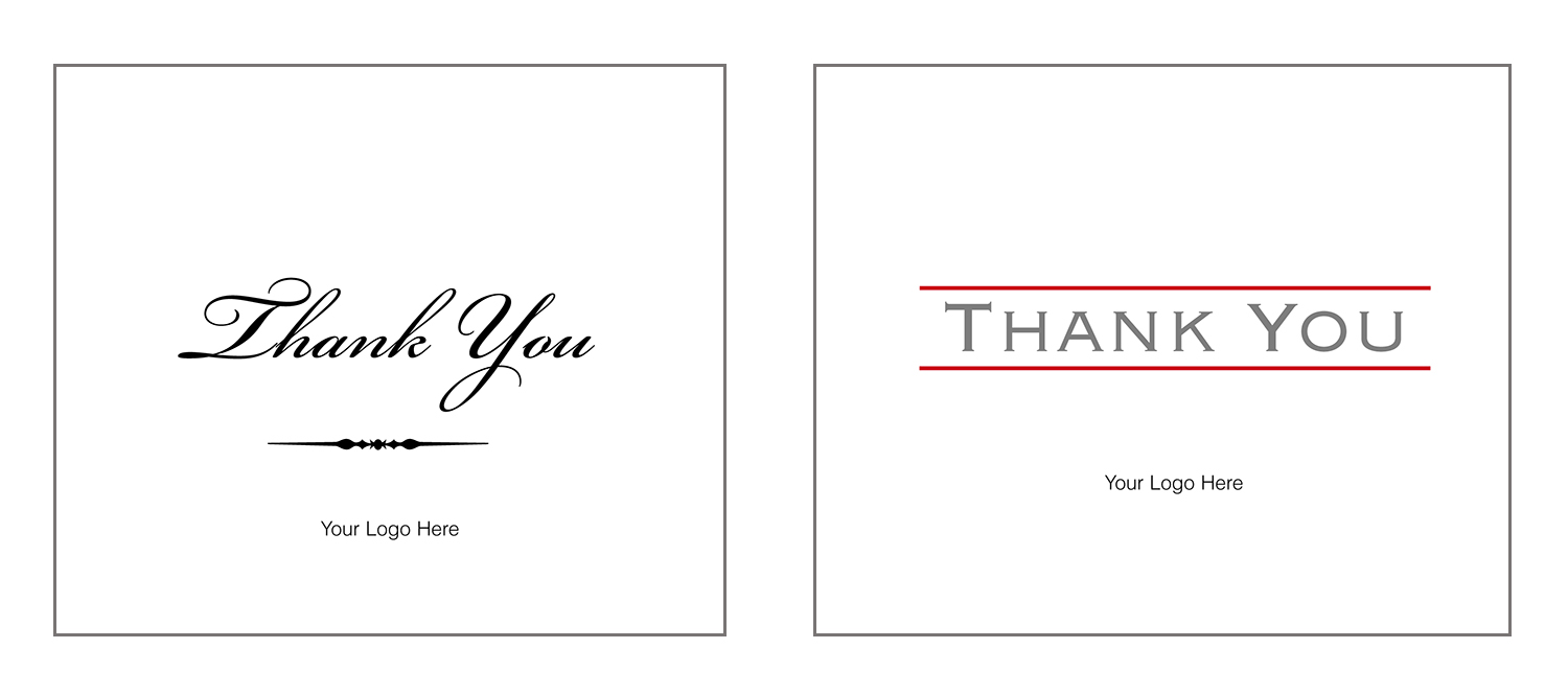 """""""Thank You"""" Note Cards  personalized for business"""