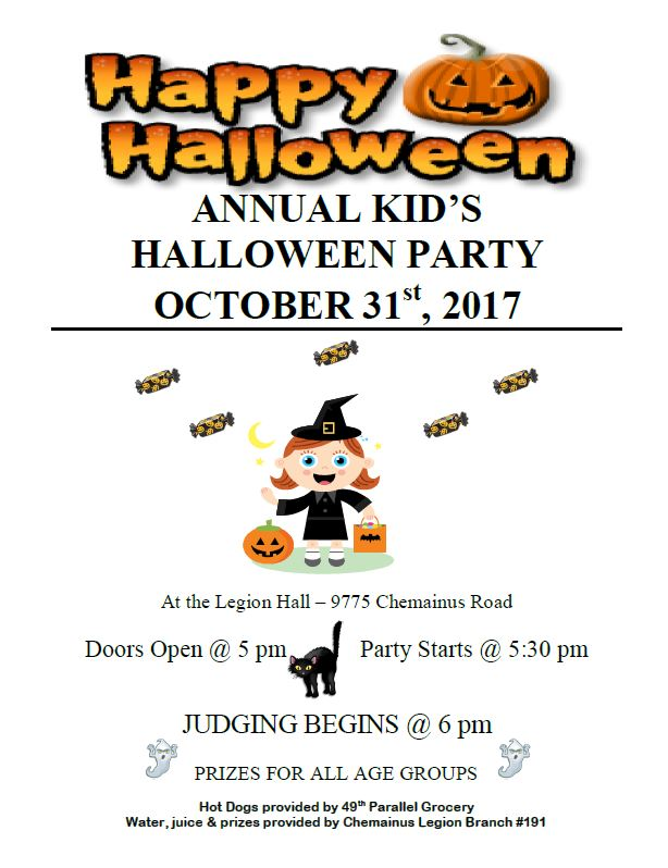 Chemainus Legion Halloween Party