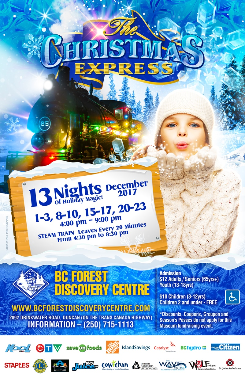 2017 BC Forest Discovery Centre Christmas Express