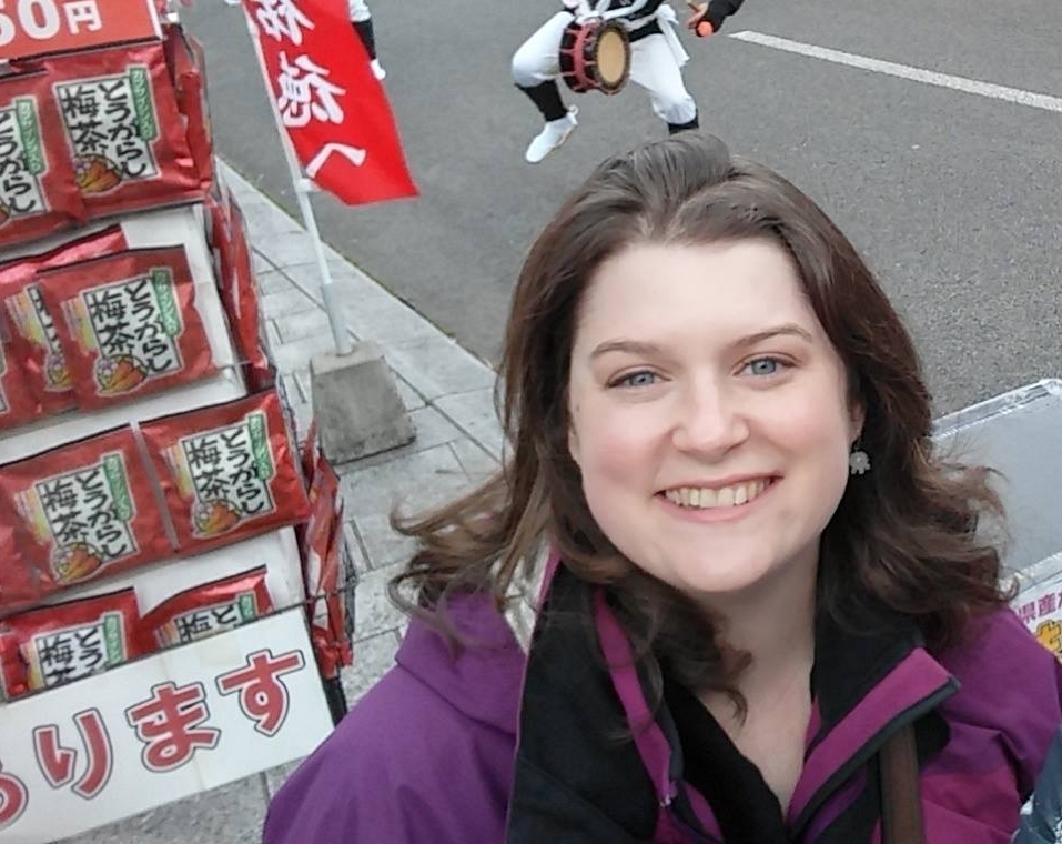 Rachel visiting Saga, Japan.