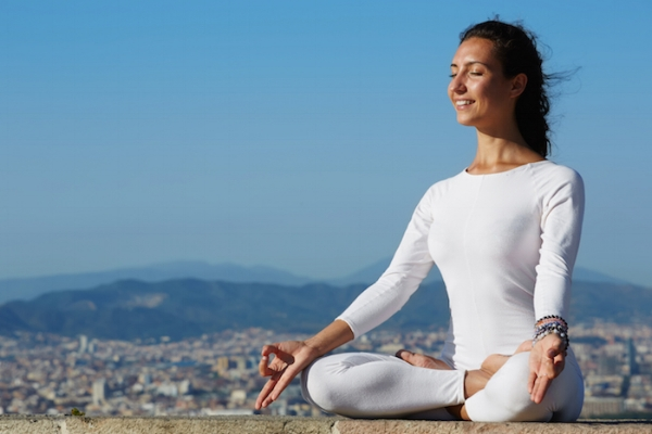 Meet 'Jenny the Meditator'. Pictures like this are on par with GQ & Cosmopolitan magazine. Just as photo-shopped models don't represent real humans, neither does 'Jenny the Meditator'. Damn you Don Draper.