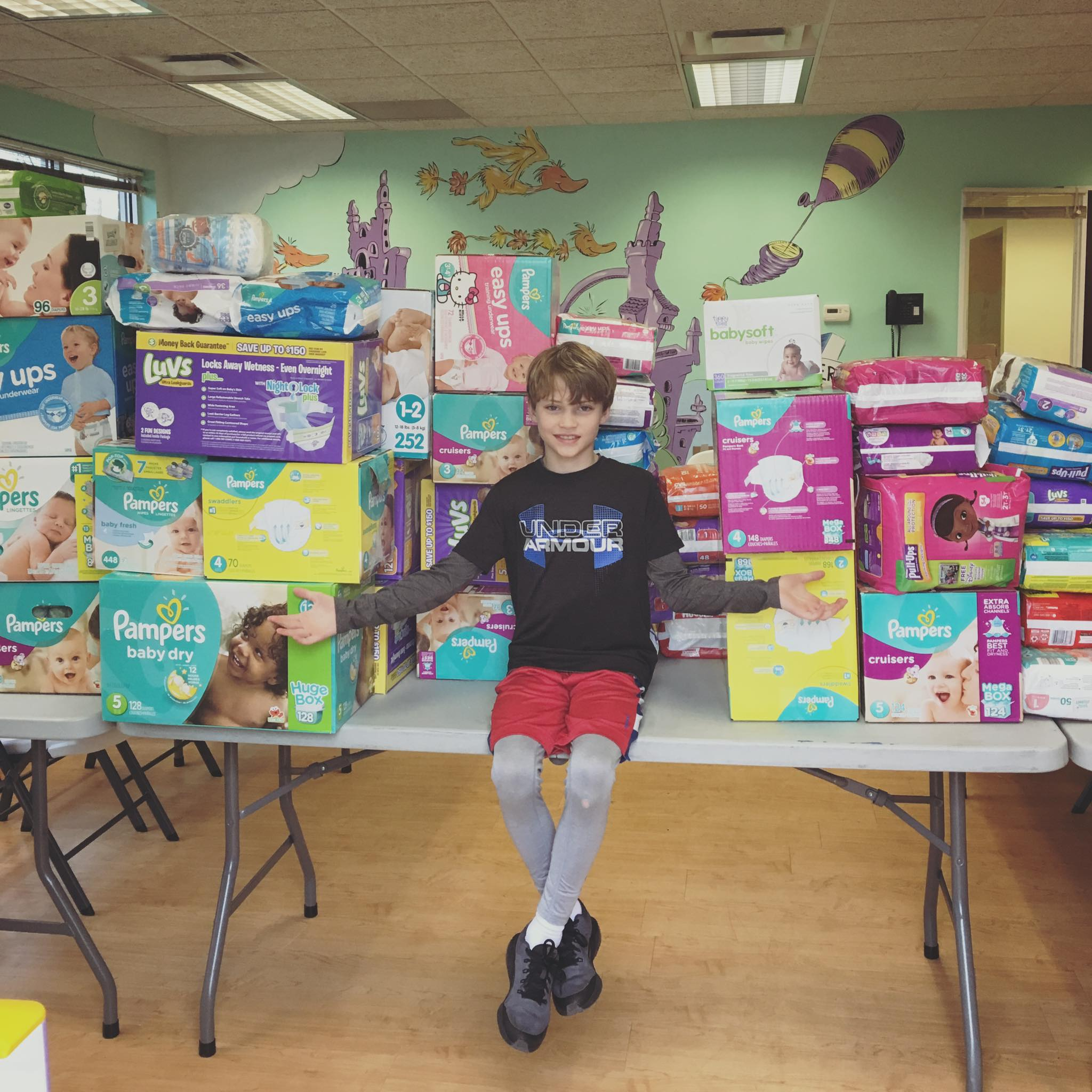 Marshall, turned a $10 investment into more than 5000 diapers through his school project. He made a video for social media and spoke at his church to get donations. It's amazing what one super kid with a dream can accomplish!