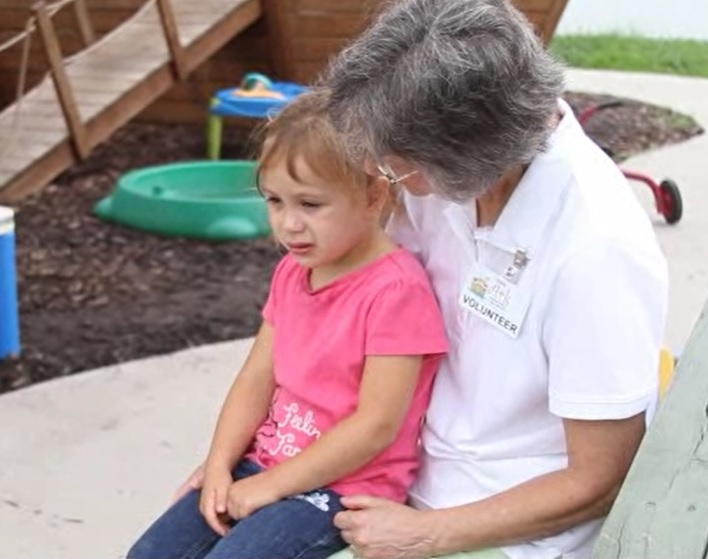 Barbara has been volunteering in Ark's classrooms for over a year. Barbara helps out by giving Ark's children one-on-one attention.