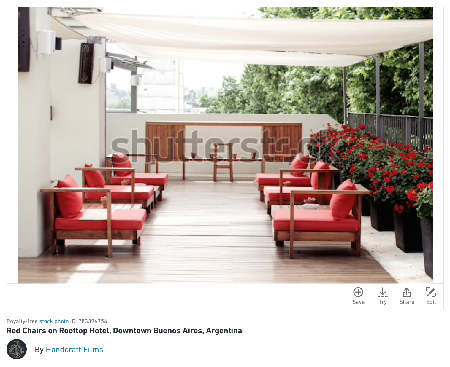 red chairs sold on shutterstock