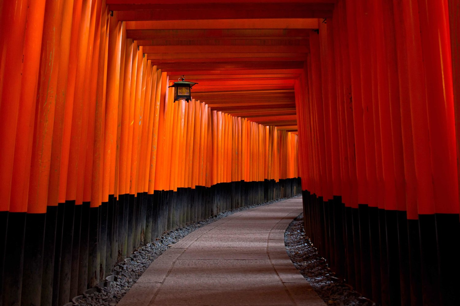 red japanese architecture