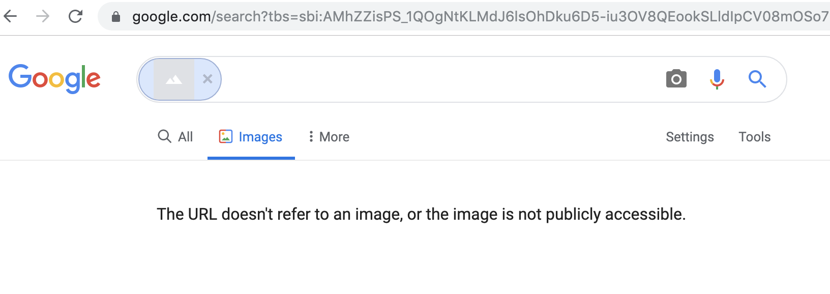 google image error message