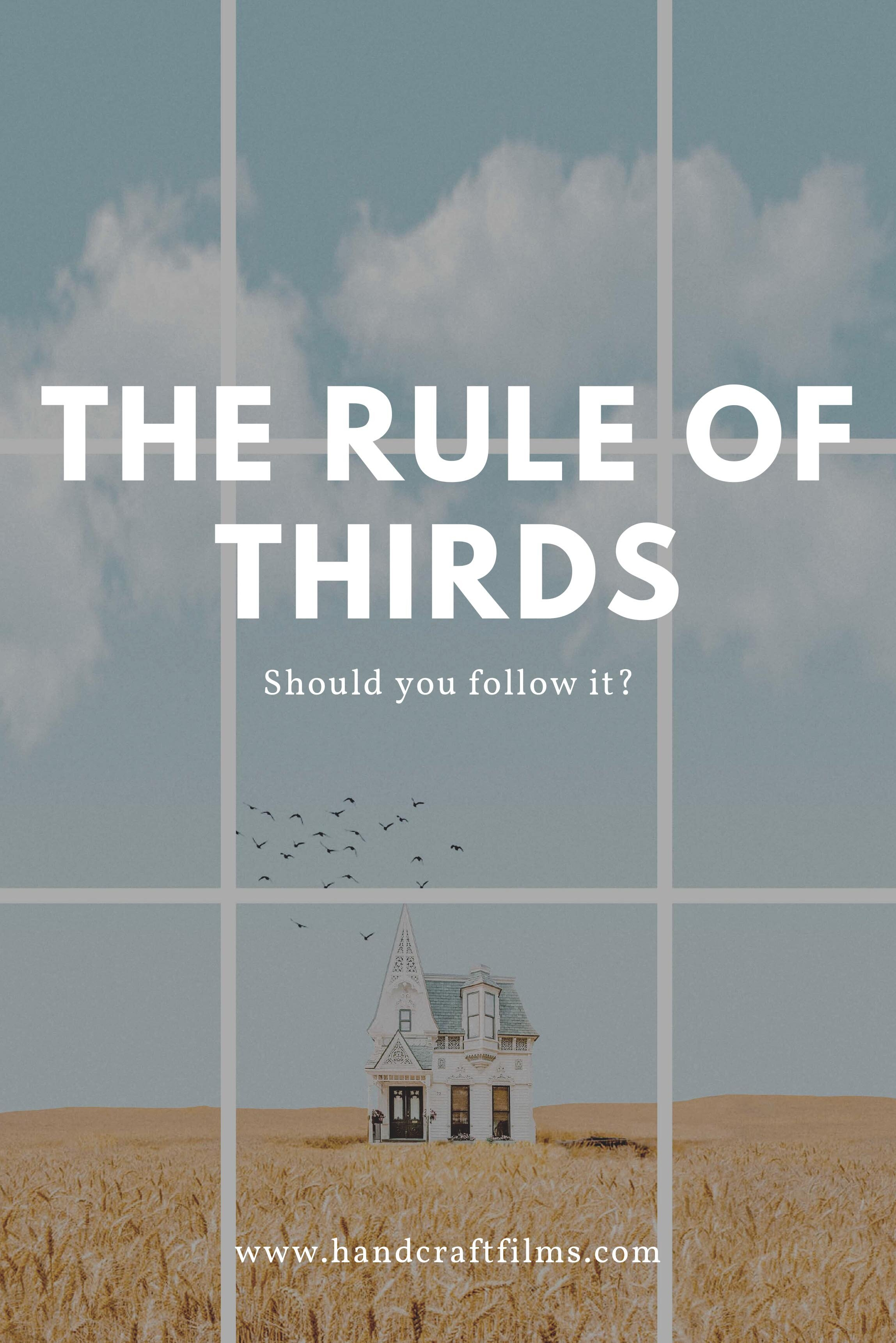 the rule of thirds for filmmakers