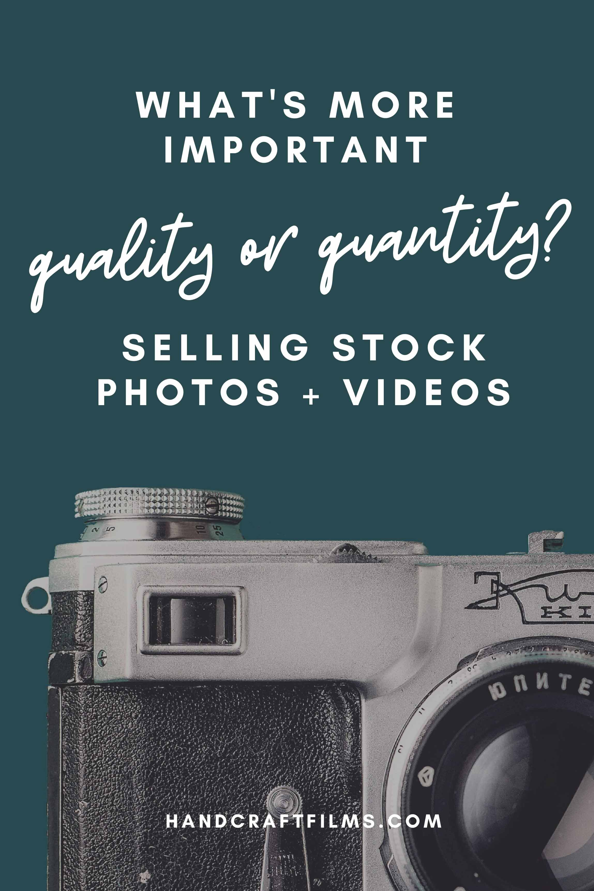 Which is More Important for Selling Stock Photos: Quality or Quantity?