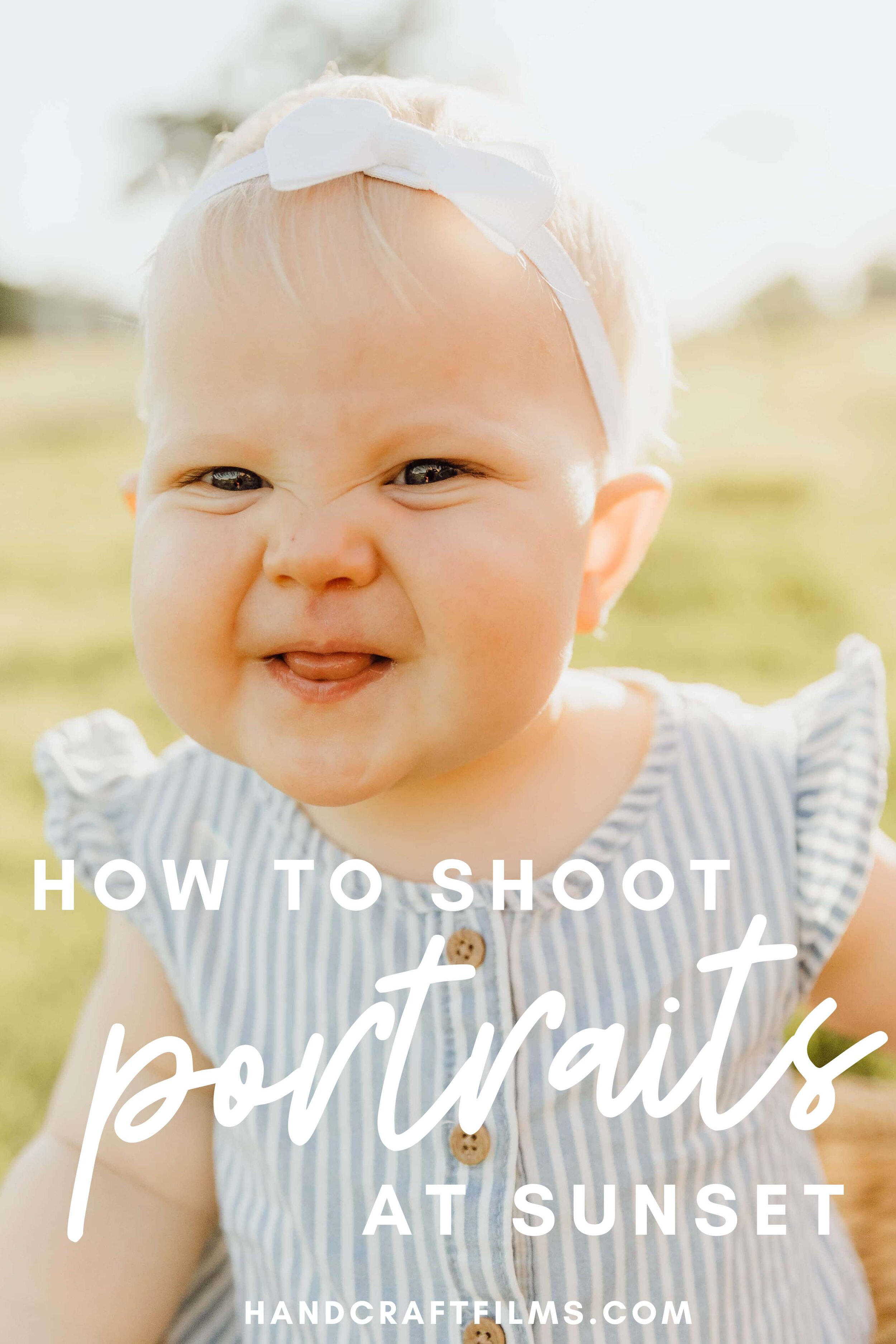 learn how to shoot portraits at sunset