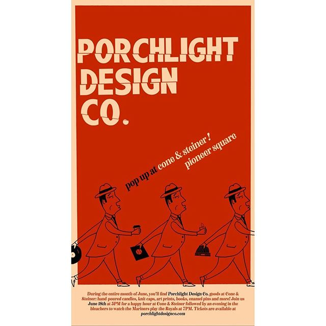 Join C&S at Pioneer Square during the month of June for a @porchlightdesignco pop-up! Featuring hand-poured candles, art prints, some very exclusive enamel pins, knit caps, and more! . .  If that's not enough, @porchlightdesignco will be hosting a very special happy hour Tuesday, June 18th at 5pm. Come meet the maker while discussing coffee, art, and dreams ✨ . . #popup #meetthemaker #supportsmallbusinesses #happyhour #goms #shopconeandsteiner #seattle #capitolhill #pioneersquare #downtown #shoplocal #shopsmall #localvore #goodneighborsgoodfood #eventoftheday #eotd