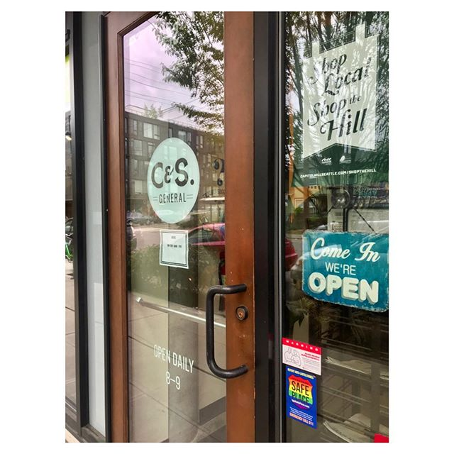 Good morning, neighbors! ☀️ Come on in, we're open. Check us out in person or online. Link in bio. . . #shopconeandsteiner #seattle #capitolhill #pioneersquare #downtown #shoplocal #shopsmall #localvore #goodneighborsgoodfood #orderonline #delivery #togo #pickup #instore