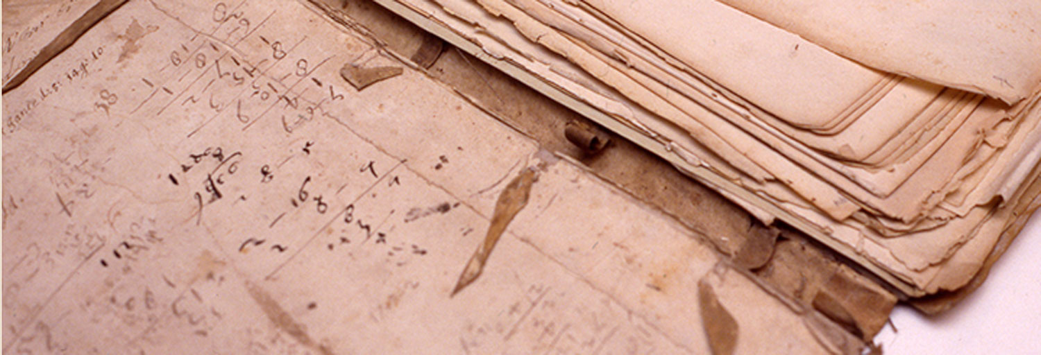 Volume of New Amsterdam deeds before conservation
