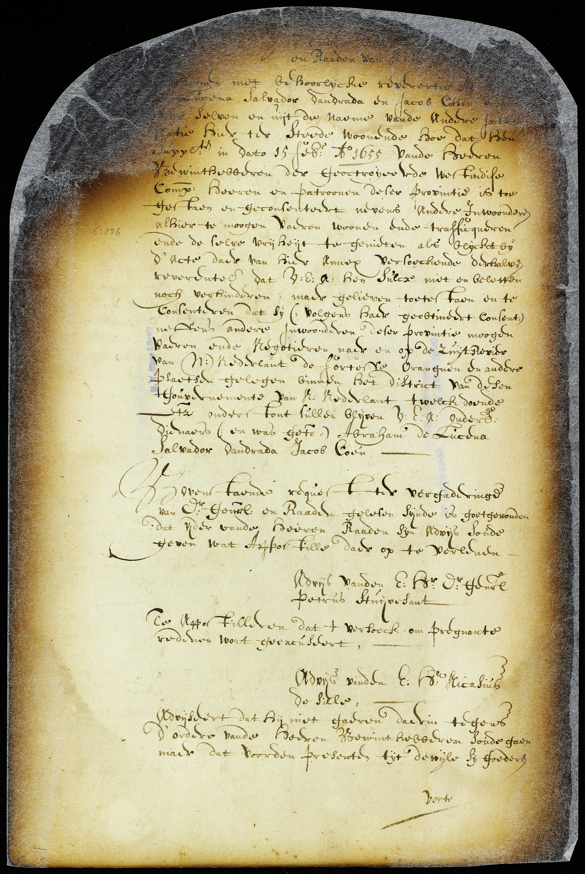 Petition of Abraham de Lucena