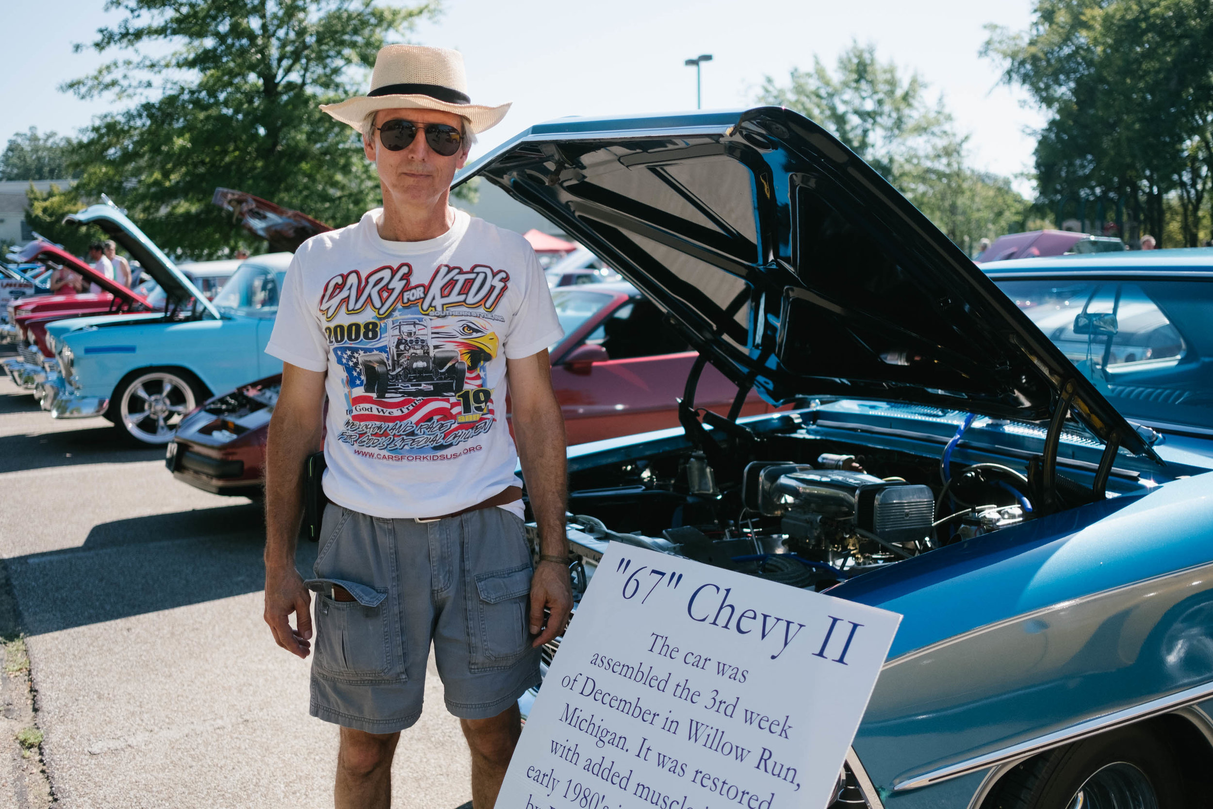 "Bill de Lancellotti poses with his ""67"" Cevy II Nova, September 15, 2018."