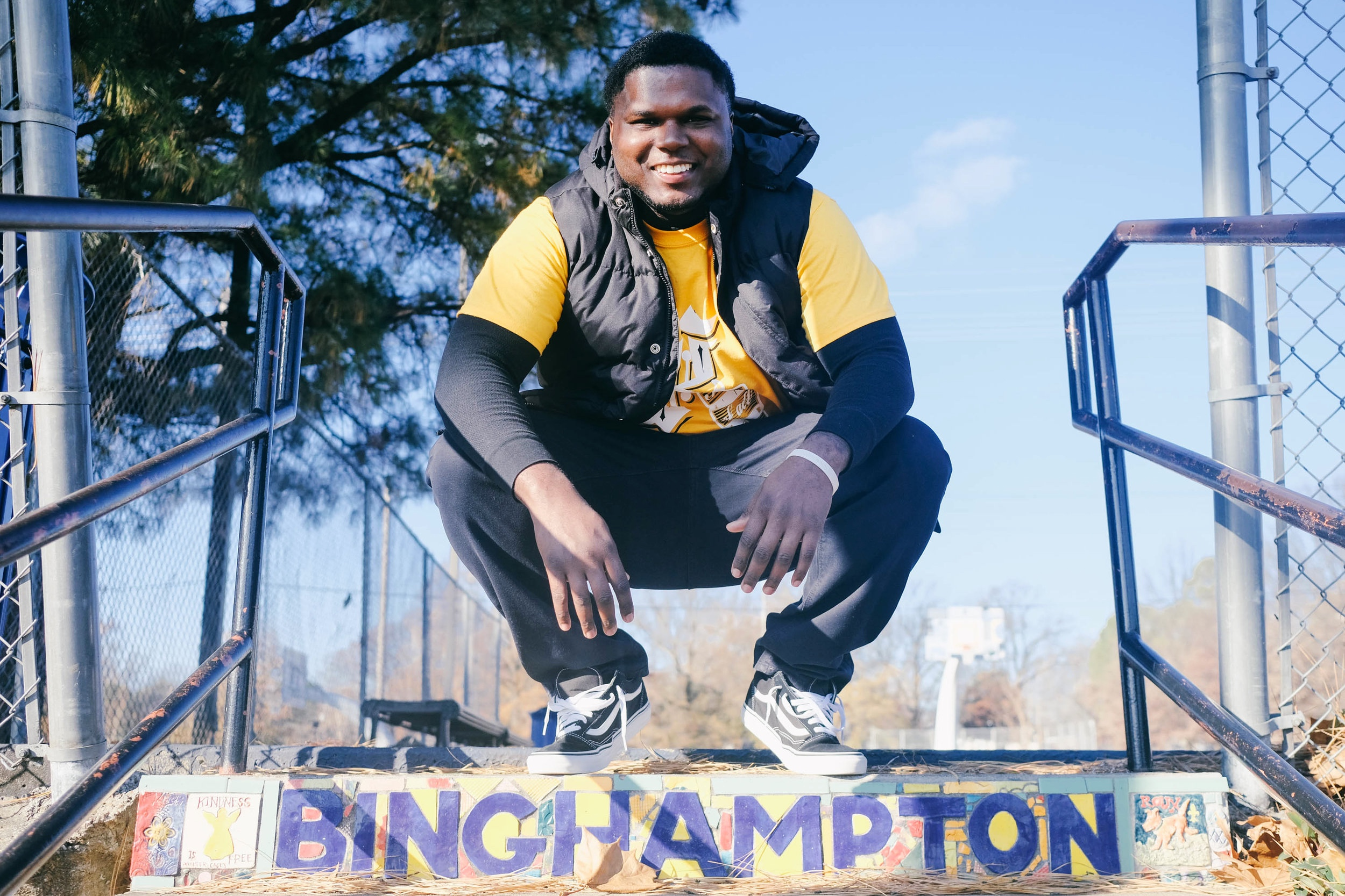Fashion designer Zay Franklin, founder of Kencade Apparel, in Binghampton, January 8, 2018.