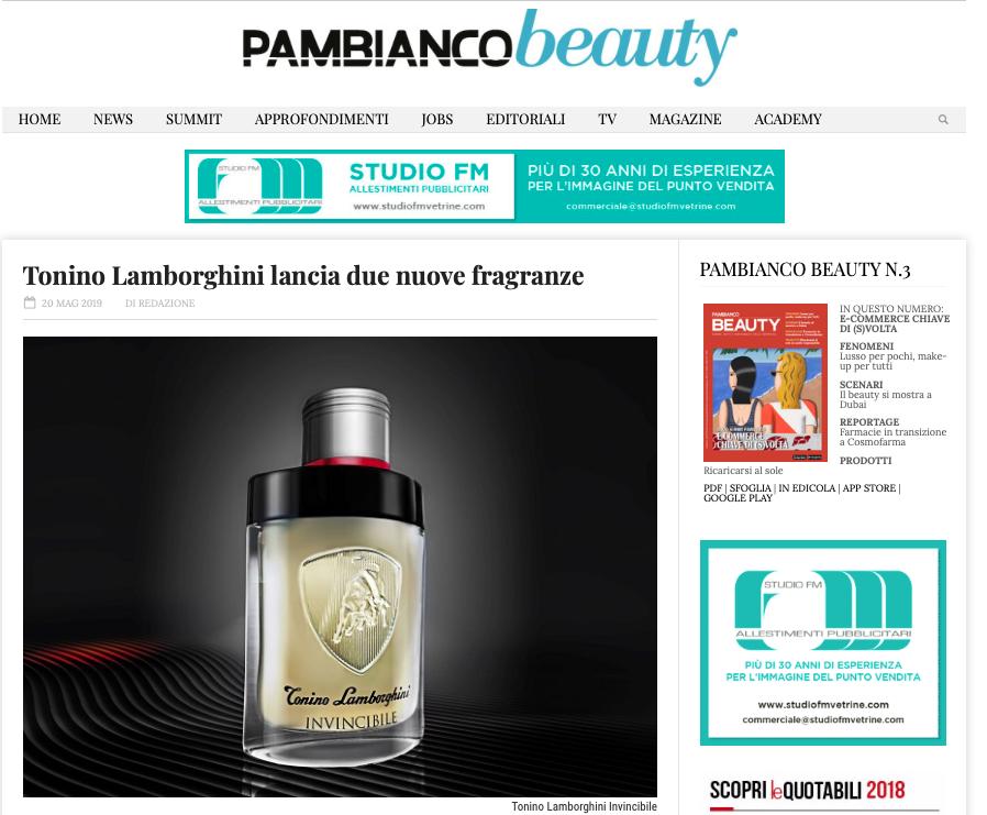 PAMBIANCO BEAUTY - Tonino Lamborghini Men's Fragrance