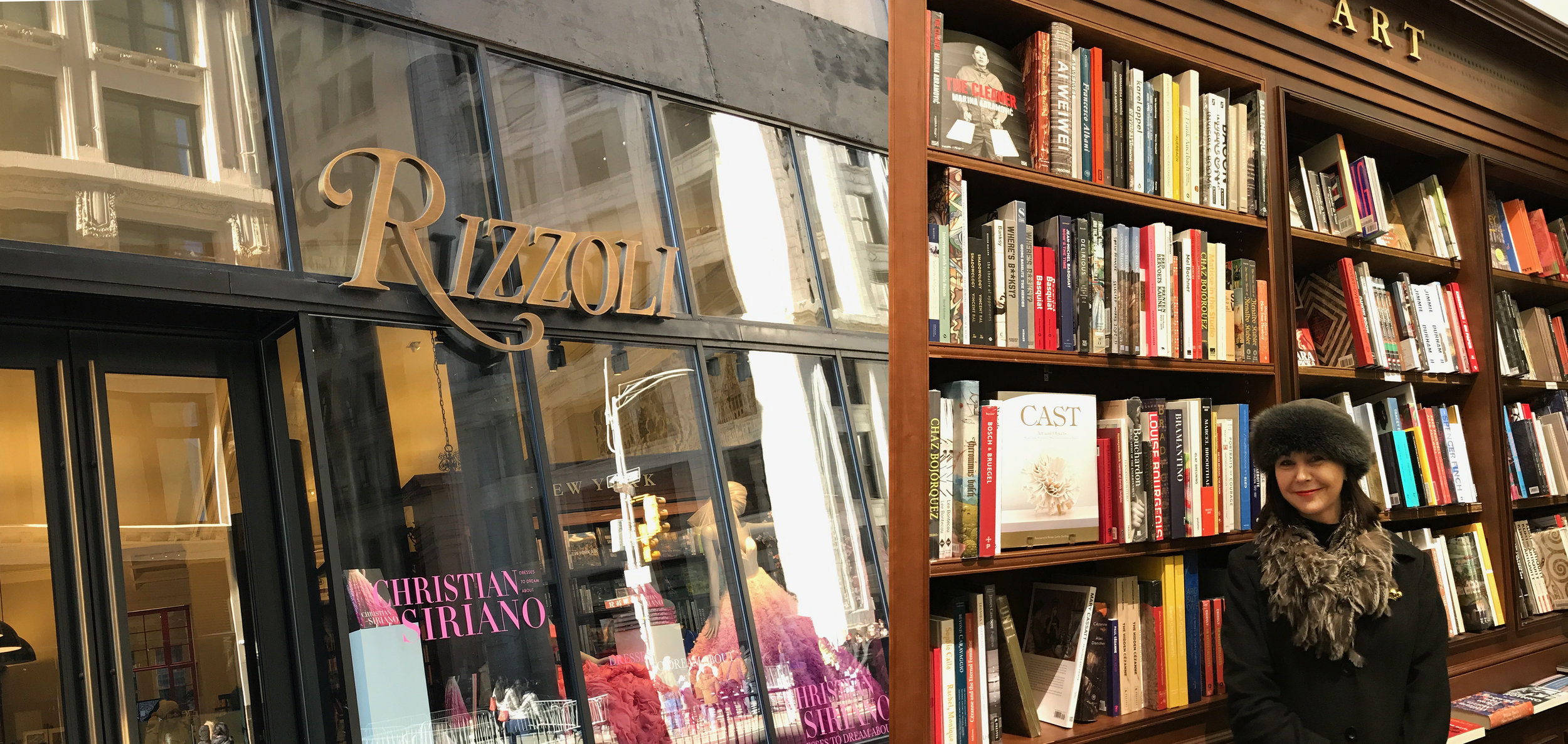 Jen at Rizzoli in NYC