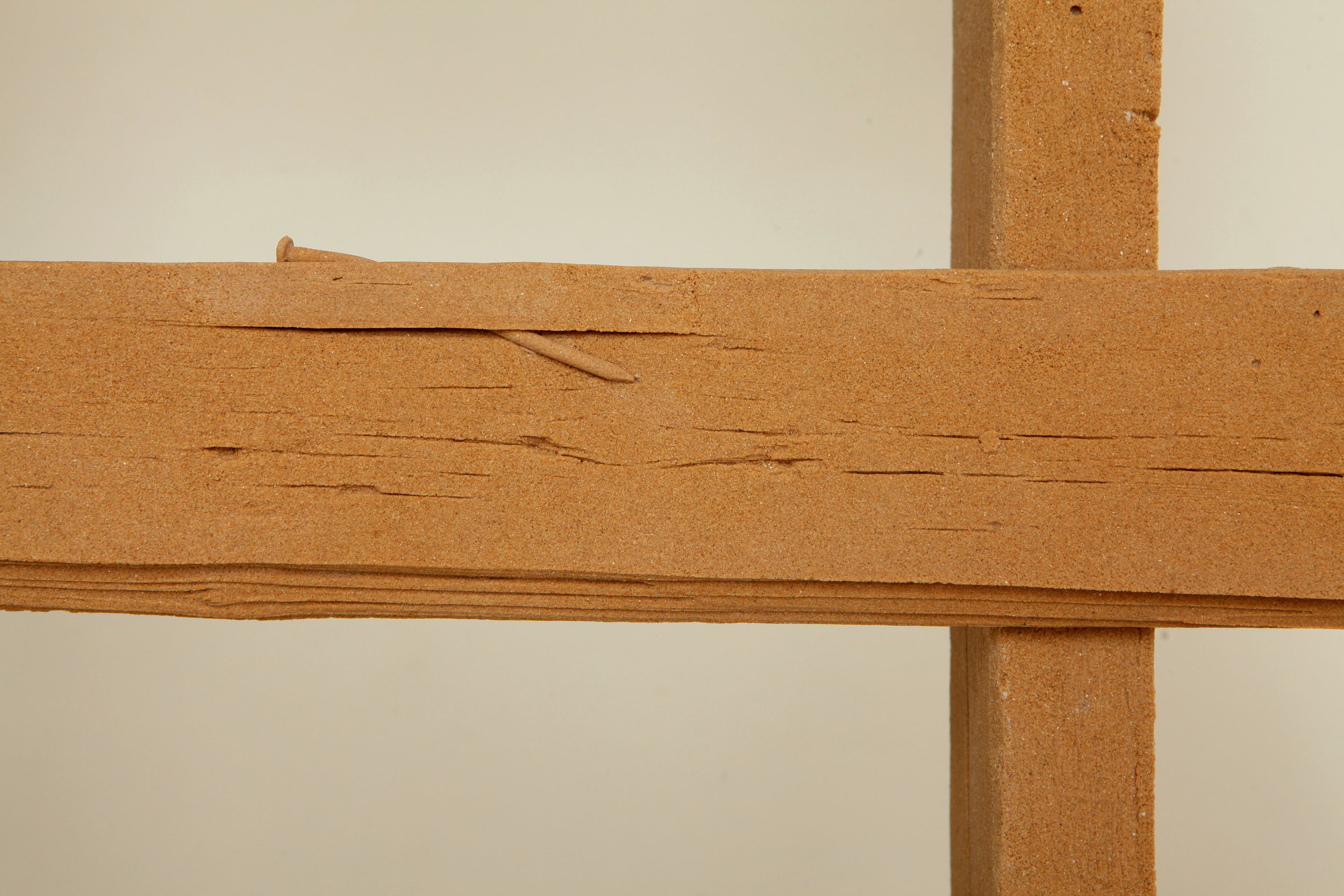 The Ladder (detail) by Haimi Fenichel, cast sand. Photo by Yuval Hai, 2010, courtesy of the artist.