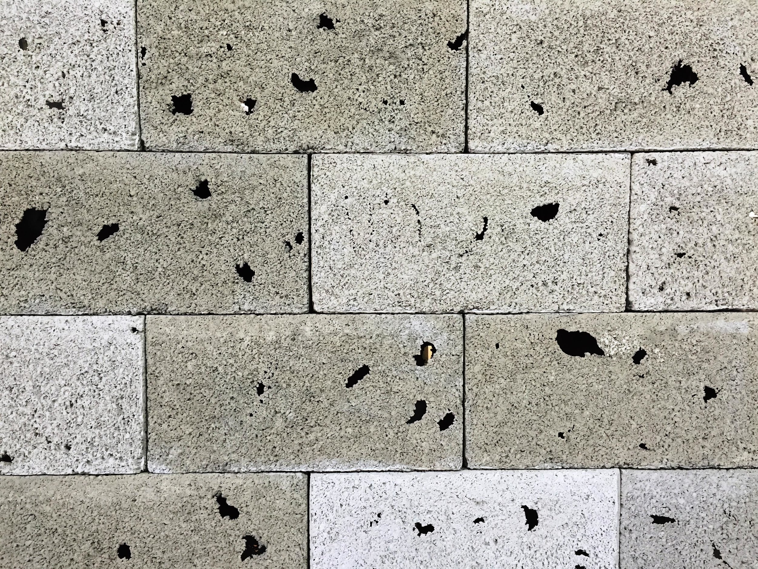 Close-up of seemingly strong and solid wall shows that it is actually delicate and see-through. Photo by Haimi Fenichel.