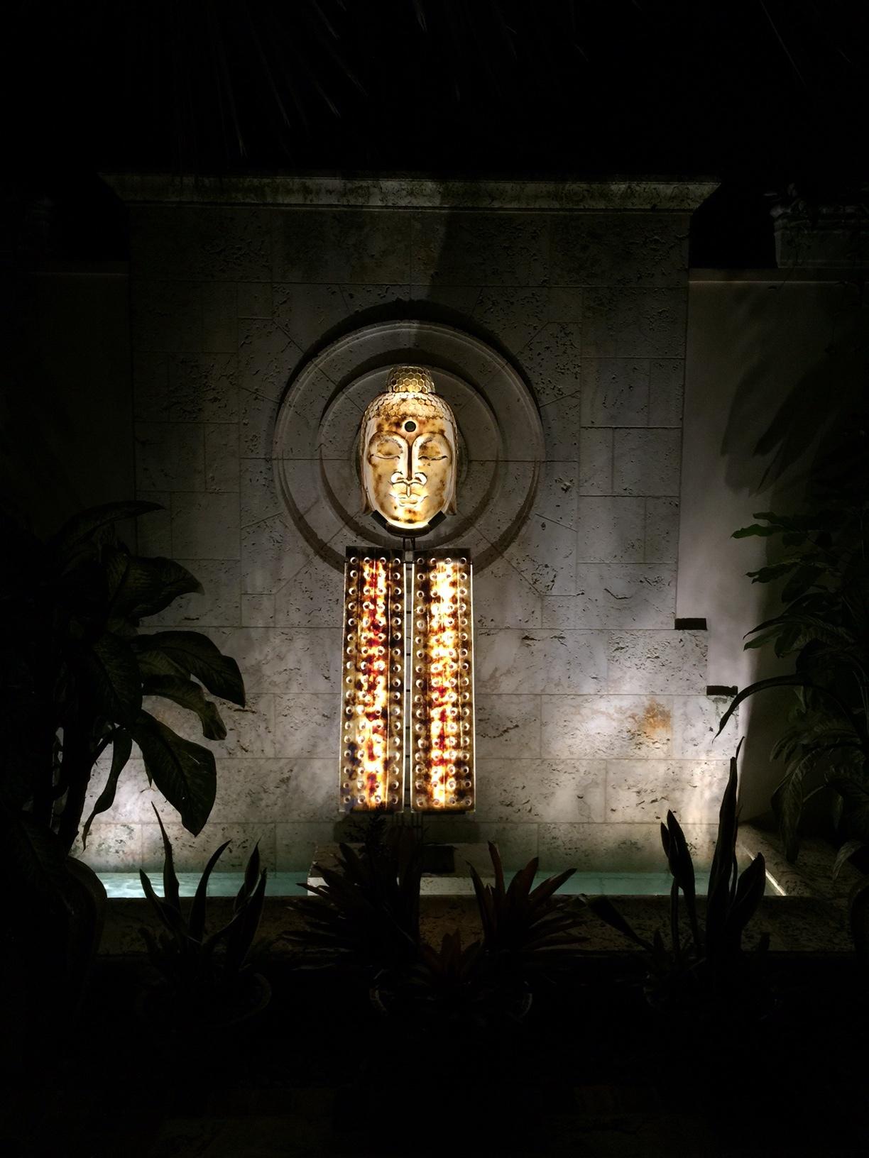 Fountain Buddha  at night