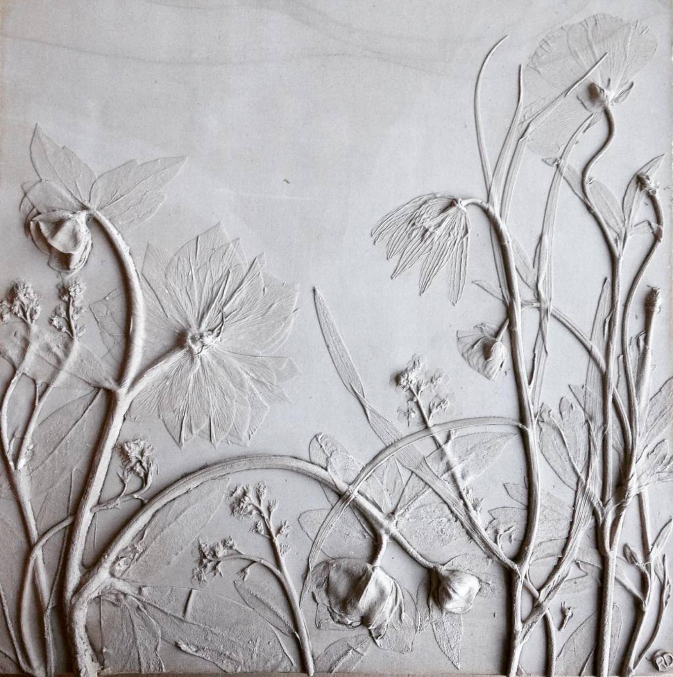 Plaster panel, photo courtesy of the artist.