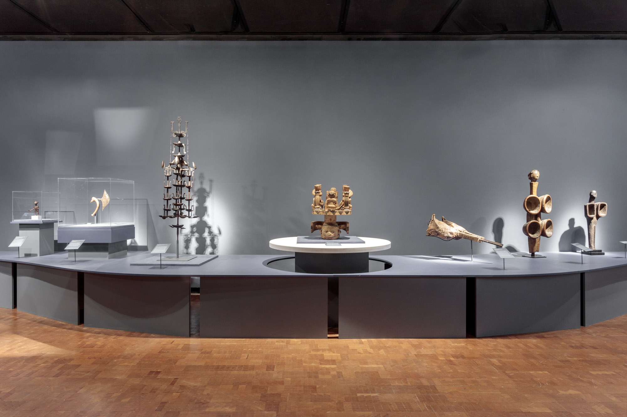 Striking Iron:The Art of African Blacksmiths, Installation View,2018,Fowler Museum at UCLA.Photo:Joshua White/JWPictures.com