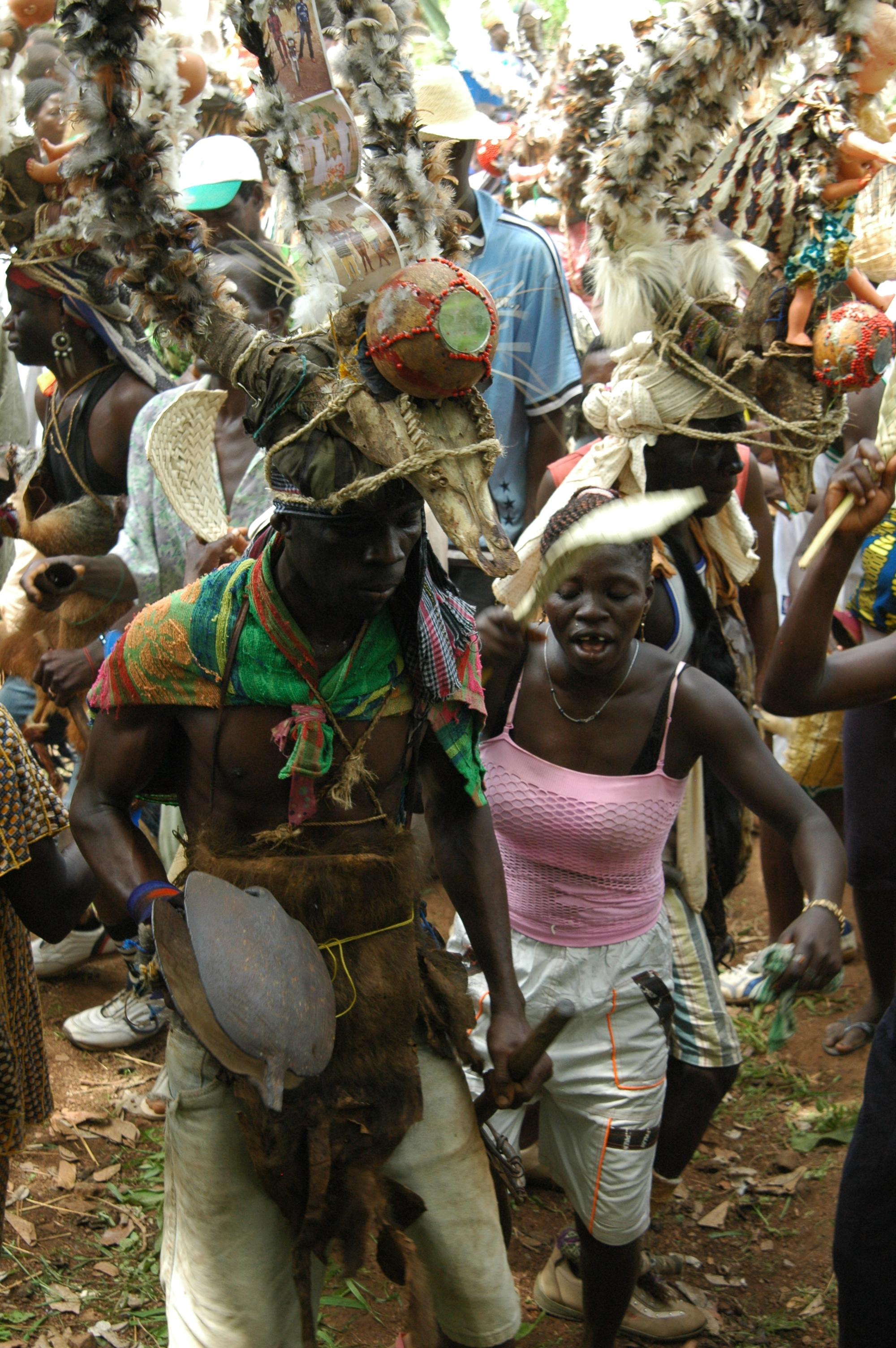 Initiation ceremony in process. Kwede, Togo. © Tom Joyce, 2010