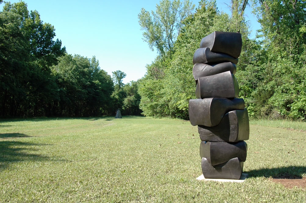 """STACK I , Tom Joyce. Forged high-carbon steel, 74"""" x 34"""" x 32"""" - 5,507 lbs.Collection of Robyn & John Horn"""