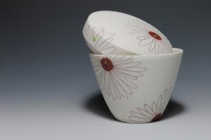 "Sandra Torres,  Box , 2017. Slipcast porcelain, 3.25"" x 3.5"". Photo: Sandra Torres."