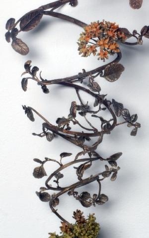"Beverly Penn,  Asclepias , 2017. Bronze, centrifugal cast, 24"" x 10"" x 10"". Photo: Christopher Zaleski. Private Collection Dallas, TX."