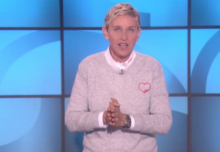 Ellen DeGeneres shares tear-jerking reminder of hope after Las Vegas shooting.