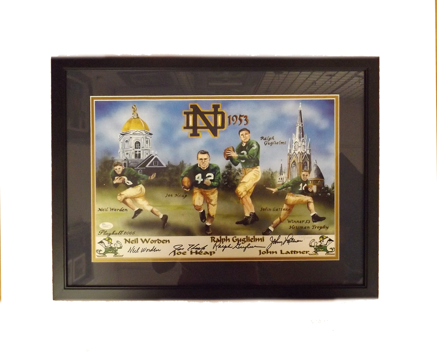 1953 Notre Dame Collage - Johnny Lattner + 3