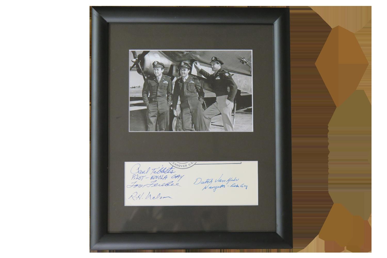 Paul Tibbets, Tom Ferebee, R.H. Nelson, Dutch VanKirk
