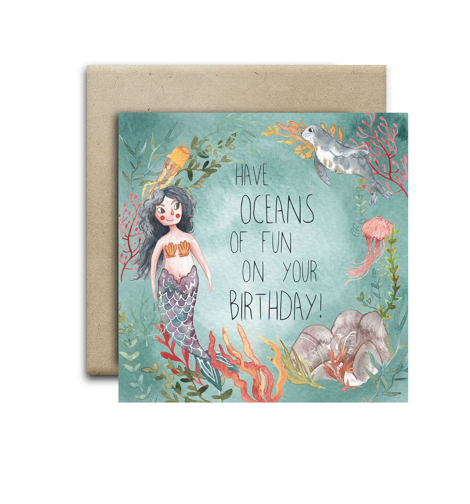 Have oceans of fun birthday card