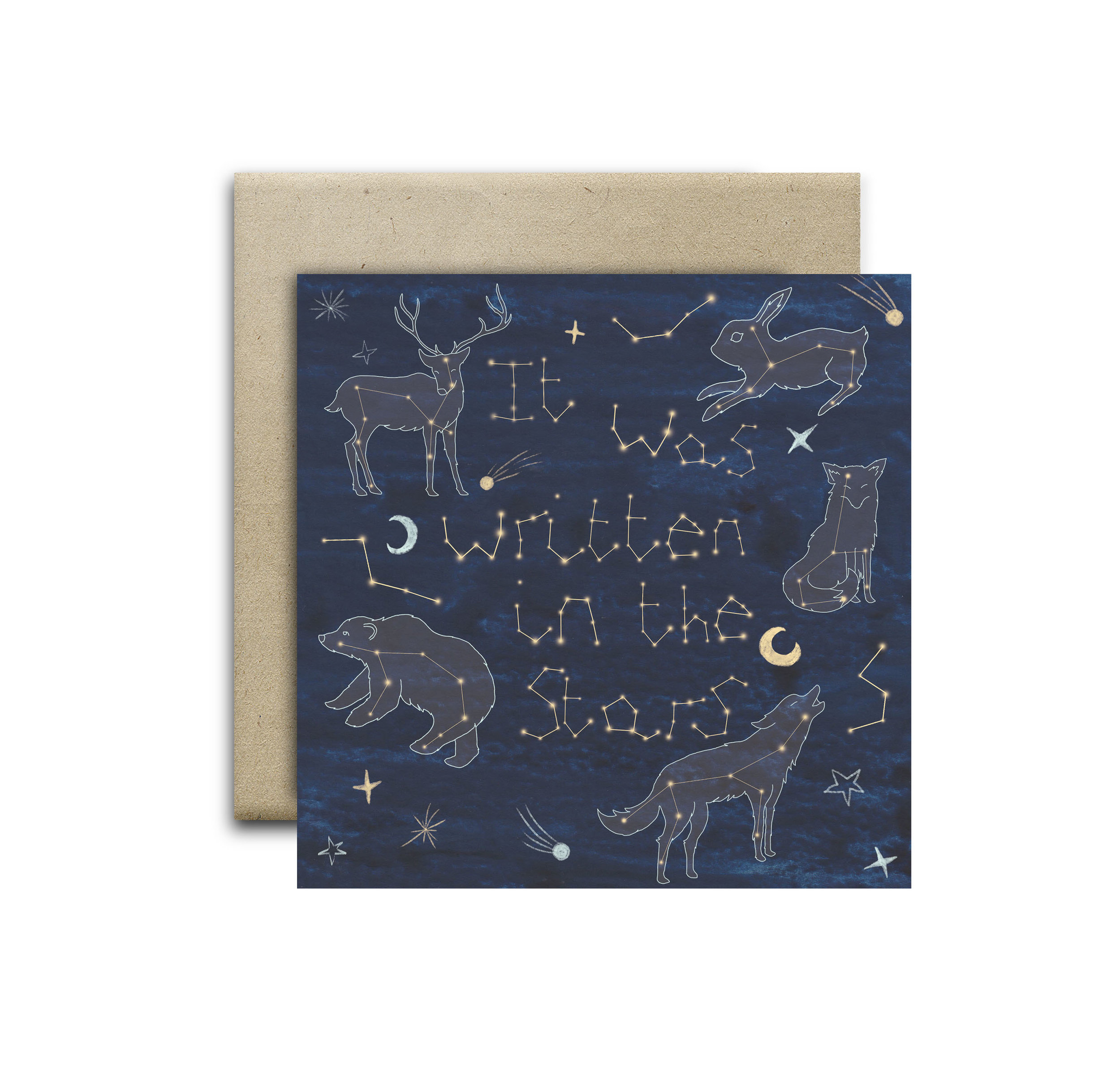 It was written in the stars greeting card