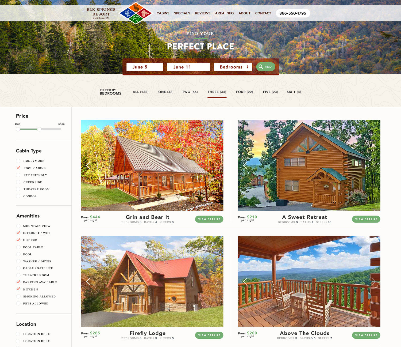Web Design | Elk Springs Resort - Perfect Place