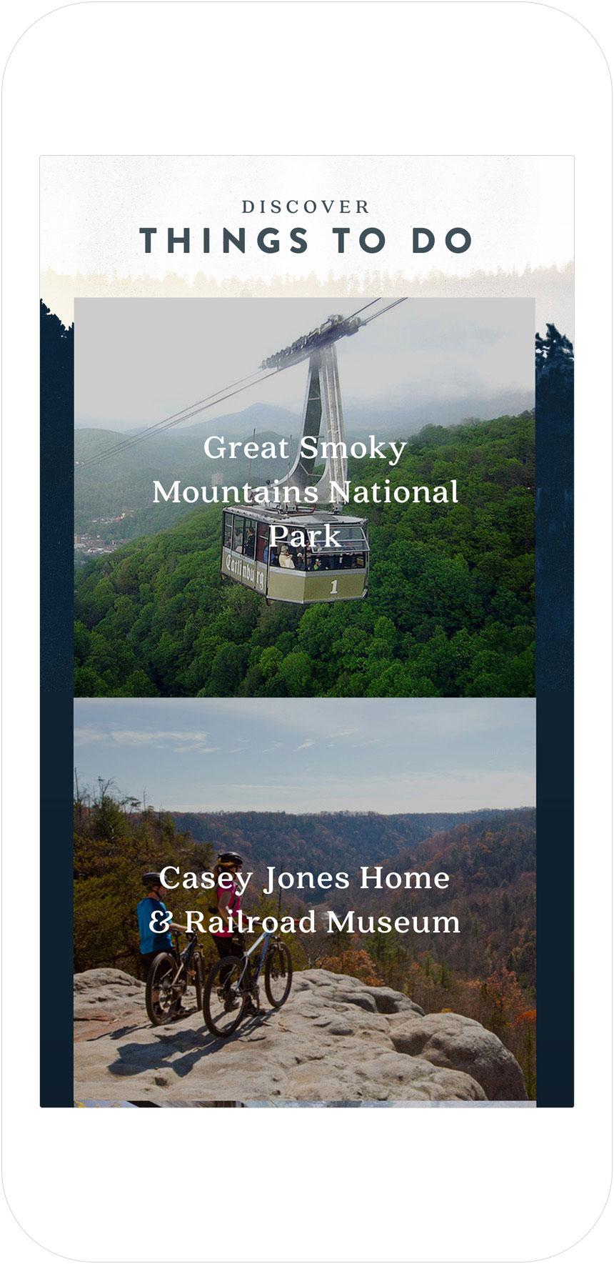 Web Design | Elk Springs Resort - Things To Do (Mobile View)