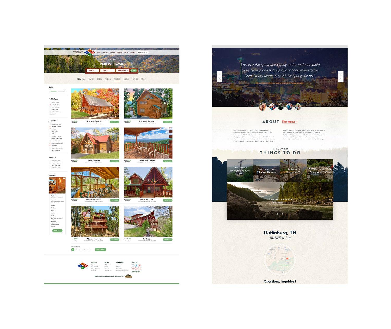 Web Design | Elk Springs Resort - Side by Side