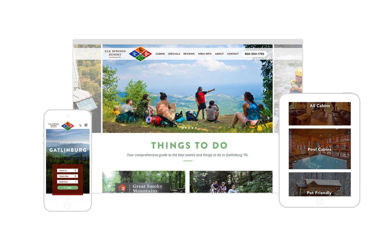Web Design | Elk Springs Resort - Responsive Design
