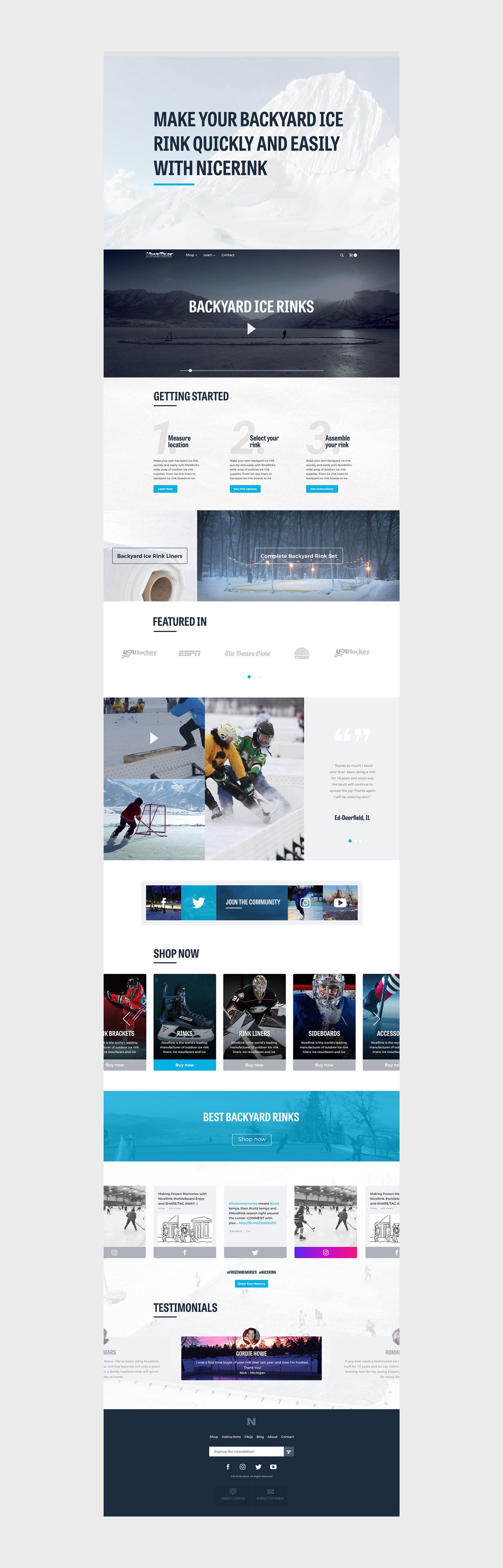 Web Design | NICERINK - Homepage (Desktop View)