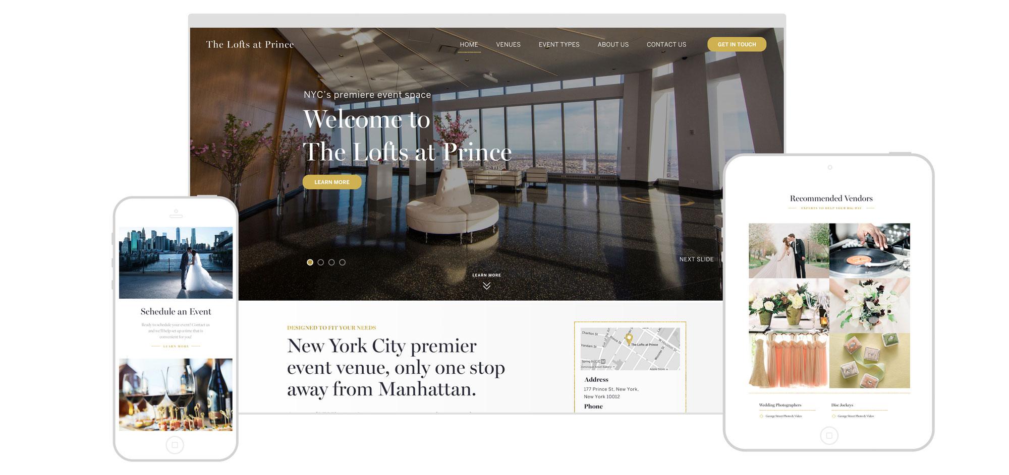 Web Design | The Lofts at Prince - Responsive Design
