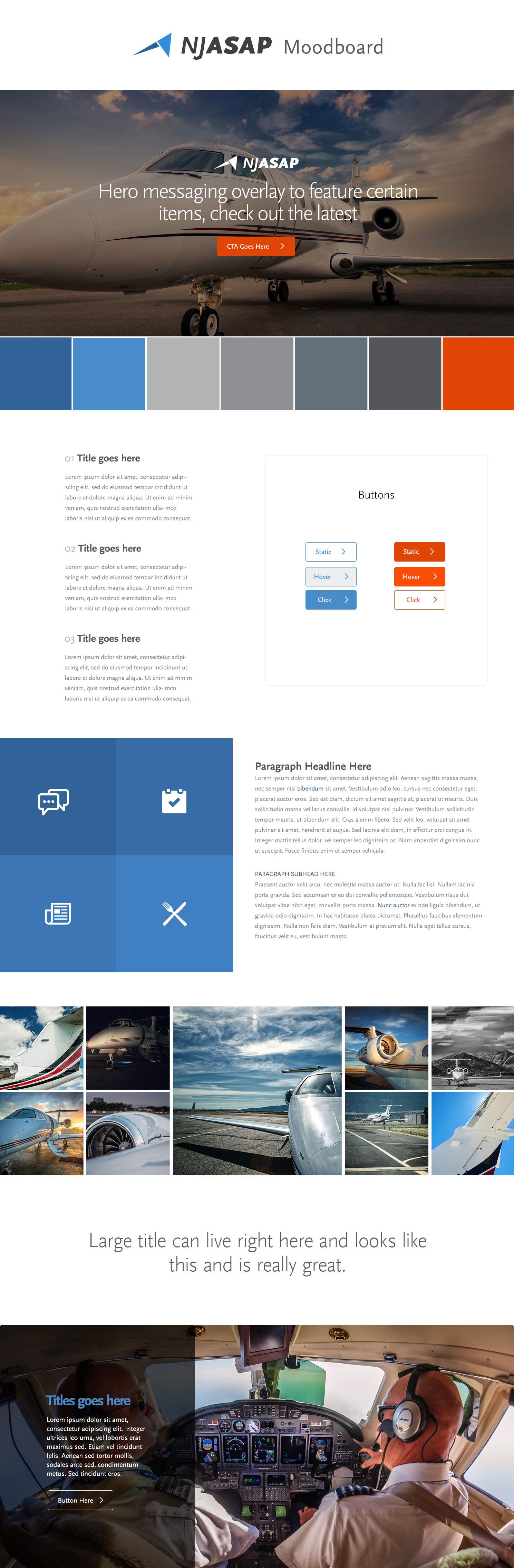 Web Design | NJASAP - Homepage (Desktop View)