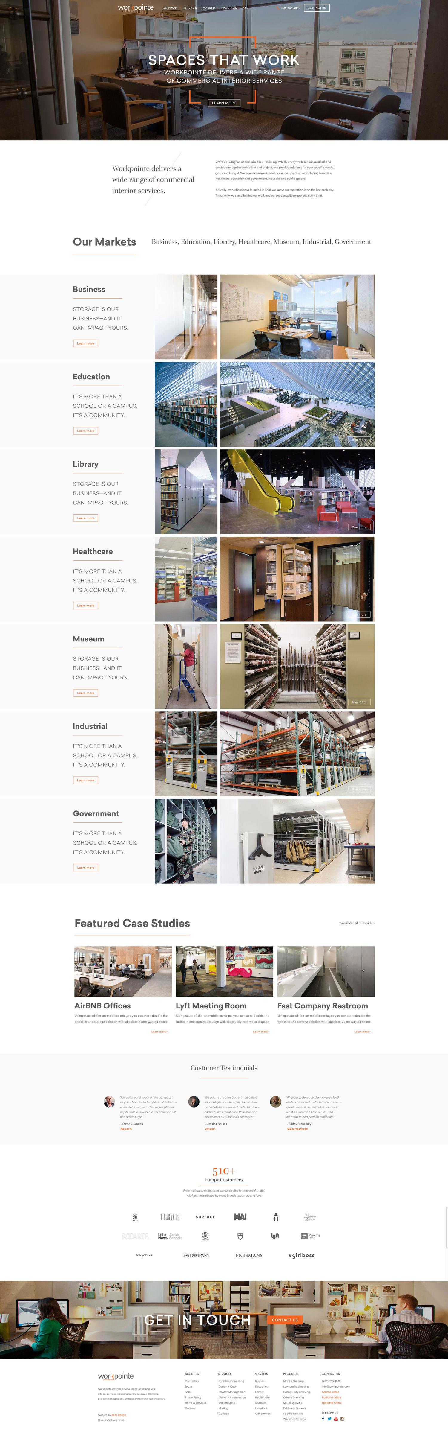 Web Design | Workpointe - Homepage (Desktop View)